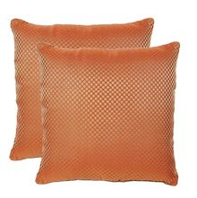 12'x12' Glory Set Of 2 Cushion Covers - @home Nilkamal,  orange