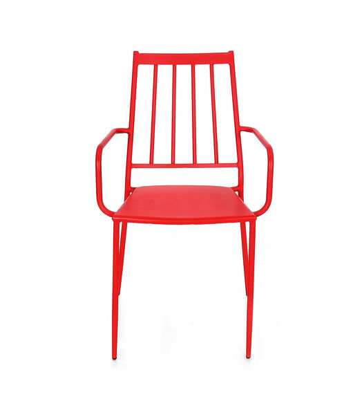 Ruby Garden Chair - @home By Nilkamal, Red