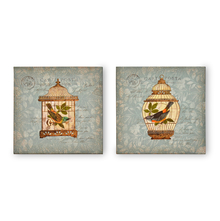 Enchanted Cages Picture Frame Set of 2 - @home by Nilkamal, Sea Green