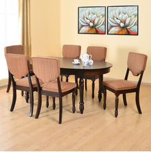 Isabella 6 Seater Dining Set - @home by Nilkamal, Tobacco