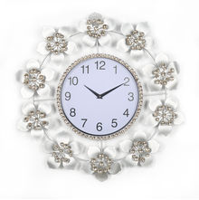 Floral Delight Crystal Wall Clock - @home By Nilkamal