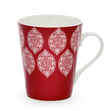 Aroha Damask Coffee Mug - @home by Nilkamal, Maroon