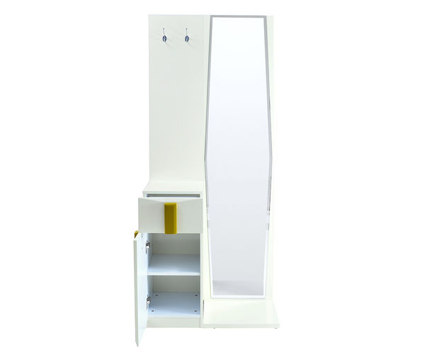 Ultra Dresser With Mirror - @home by Nilkamal, Beige With Olive