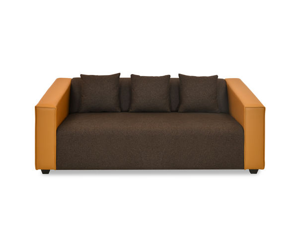 Diana 3 Seater Sofa - @home by Nilkamal, Camel