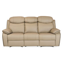 Barbados 3 Seater Sofa with 2 Manual Recliners - @home by Nilkamal, Sand Beige