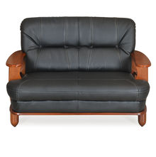 Nilkamal Legacy 2 Seater Sofa Dirty, Oak & Black