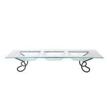 Rectangle Platter with Stand - @home by Nilkamal, Clear