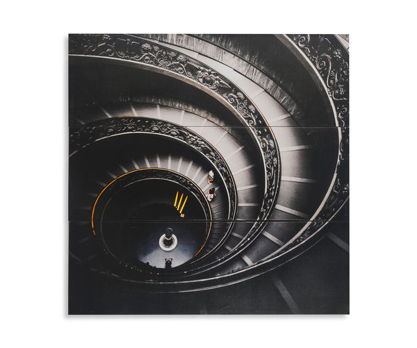 Spiral Set Of 3 Picture Painting 30 x 90 - @home By Nilkamal, Grey