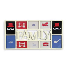 10 Cluster Collage Photo Frame - @home by Nilkamal, Cream