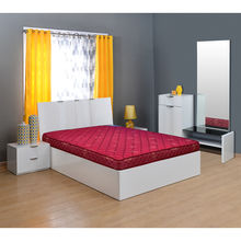Econil 4 Bonnell Spring Mattress - @home By Nilkamal, 79x59x4,  maroon