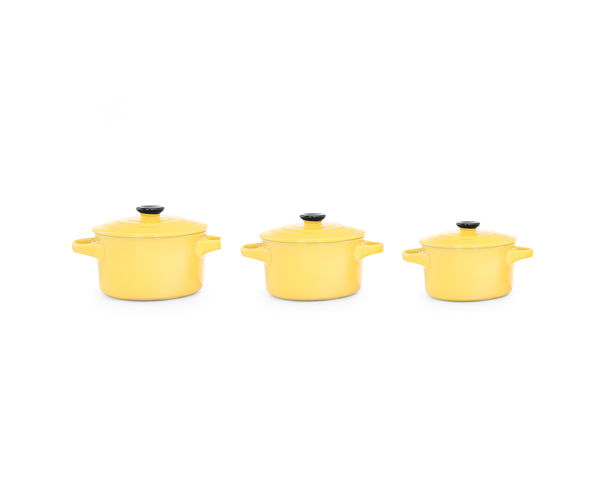 Bergner Stoneware Serve Ware Set with Lid - Yellow