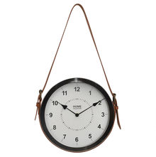 Strap Alloy Wall Clock - @home By Nilkamal, White & Sliver