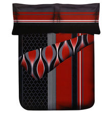 Jharokha Single Comforter - @home Nilkamal,  black