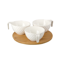 Snack Bowls With Handle Set Of 03 - @home Nilkamal,  white