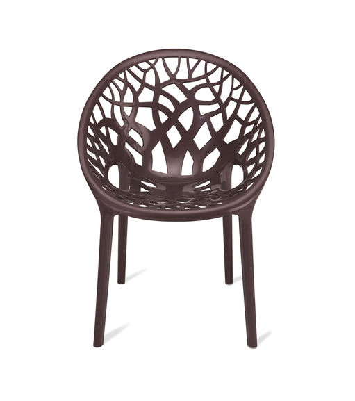 Nilkamal Crystal Chair PP,  weather brown