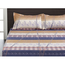 Seasons Floral Double Bed Sheet - @home By Nilkamal, Blue