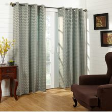 50'x84' Zig Zag Single Door Curtain - @home Nilkamal,  aqua