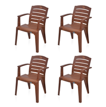 Nilkamal Passion Garden Chair Set of 4 - Mango Wood