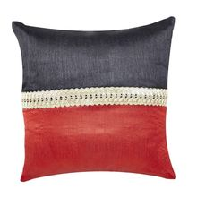 12'x12' Patch Single Cushion Cover - @home Nilkamal,  red