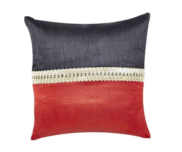 12 x12  Patch Single Cushion Cover - @home Nilkamal,  red