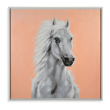Horse Autumn Picture Painting 80 x 80 - @home By Nilkamal, Blue & Peach