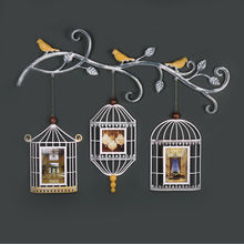 Hanging Bird Cages Photo Frame - @home by Nilkamal, White