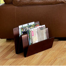 Magazine Rack Marco - @home Nilkamal,  dark walnut