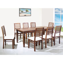 Willow 8 Seater Dining Set - @home by Nilkamal, Walnut