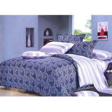 Bed sheet Hounds tooth Eclipse - @home Nilkamal,  dark blue