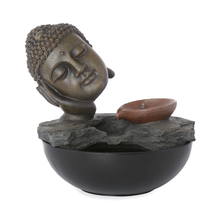 Sleeping Spring Buddha Water Fountain - @home by Nilkamal, Brown