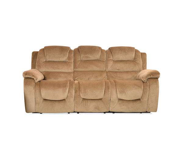 Soul 3 Seater Sofa With Electric Recliner - @home Nilkamal,  beige