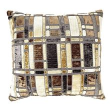 24'x24' Blocks Cushion Cover - @home Nilkamal,  brown