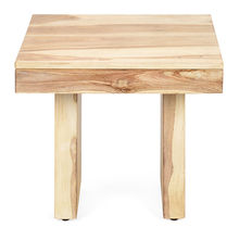 Delmonte Side Table - @home by Nilkamal, White Natural