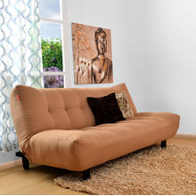 Max 3 Seater Sofa Cum Bed - @home Nilkamal,  tan