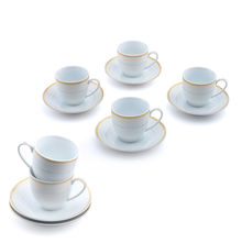 Bailey Cup & Saucer Set of 6 - @home by Nilkamal, White