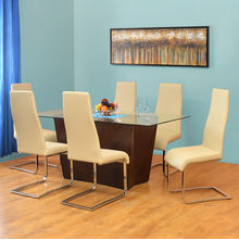 Nixon 6 Seater Dining Set - @home by Nilkamal, Antique Cherry