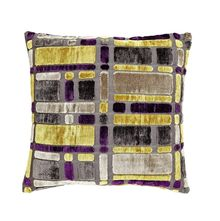 16'x16' Blocks Cushion Cover - @home Nilkamal,  purple