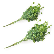 Leafy Fillers Stick Set of 2 - @home by Nilkamal, Green