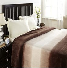Flannel Double Blanket - @home Nilkamal,  beige