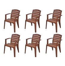 Nilkamal Passion Garden Chair Set of 6 - Mango Wood