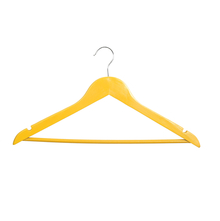Wood Hangers 44 cm x 23 cm 5 Pieces - @home by Nilkamal, Yellow