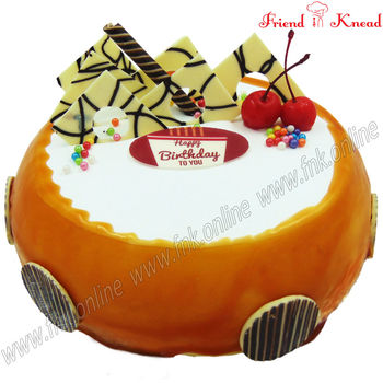 Eggless Butterscotch Fudge Cake, eggless, select time, 0.5 kg
