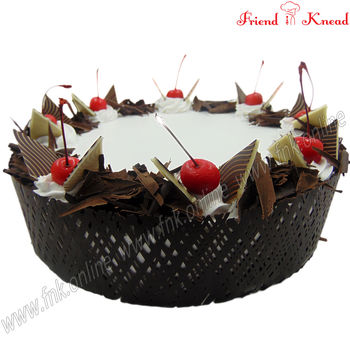 Eggless Black Forest Cake, select time, eggless, 0.5 kg