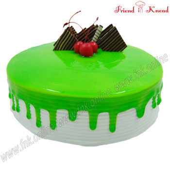 Eggless Kiwi Cake, eggless, select time, 0.5 kg