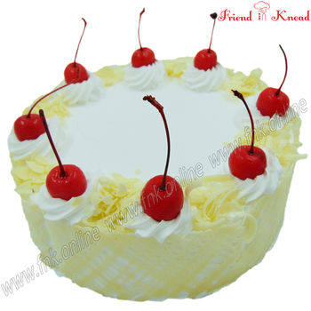 Eggless White Forest Cake, eggless, select time, 0.5 kg