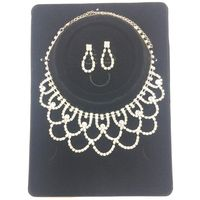 Exclusive American Diamond Studded Designer Necklace Set with Earings (Design004)
