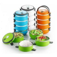 SuperDeals Lunch Tiffin Box 4 Layers Hot Box