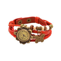 Vintage Style Red Casual Watch For Women