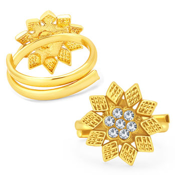 Sukkhi Luxurious Gold Plated AD ToeRing For Women