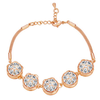 Sukkhi Exquitely Solitaire Gold Plated CZ Bracelet For Women